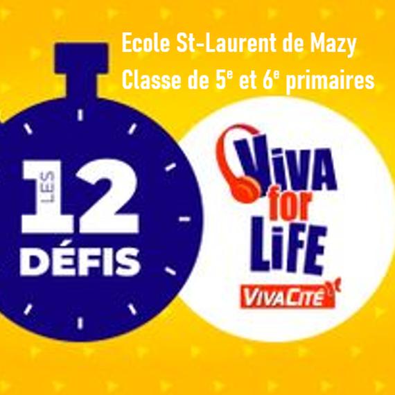 Elèves de 5ème et 6ème primaire de l'école St-Laurent de Mazy