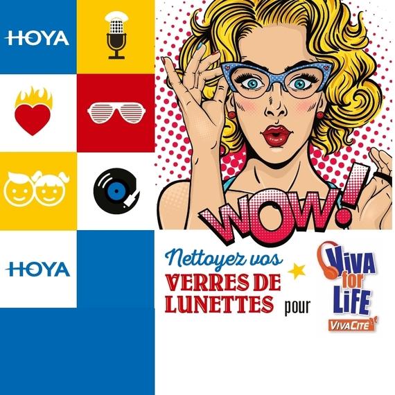Nettoyez vos verres de lunettes pour Viva for Life 2018