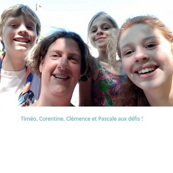 Timéo, Corentine, Clémence et Pascale aux défis !