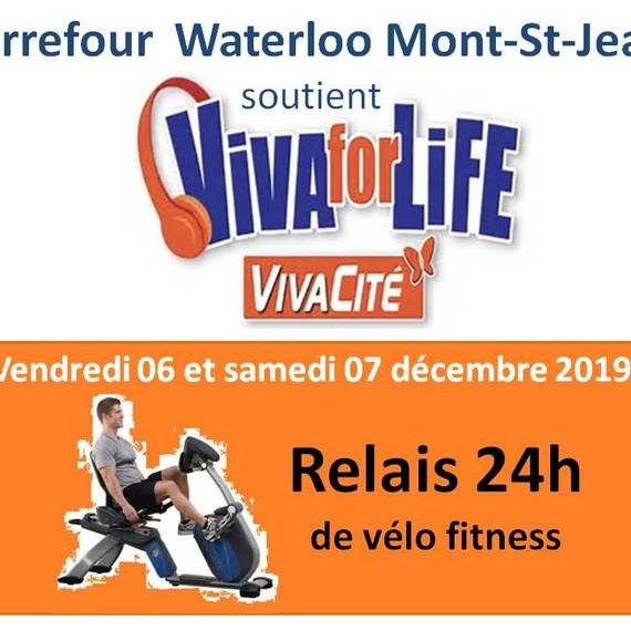 Relais vélo 2X12h Hypermarché Carrefour Mt st Jean