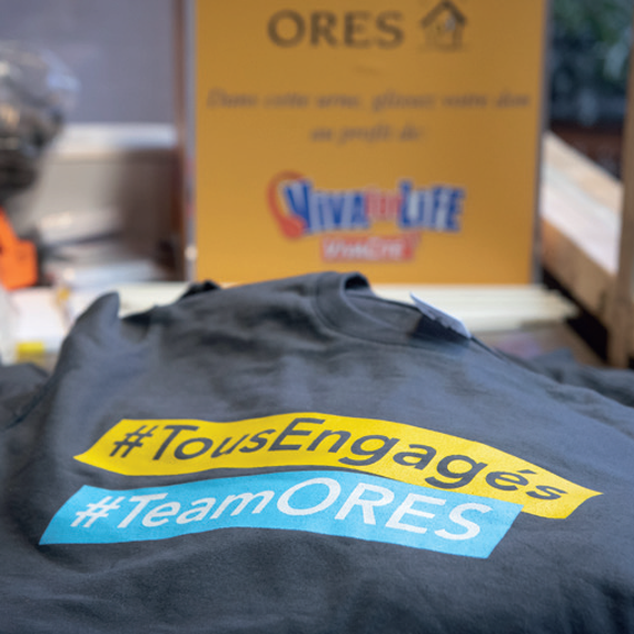 ORES se mobilise pour VIVA for LIFE